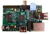 Raspberry Pi Model B from top