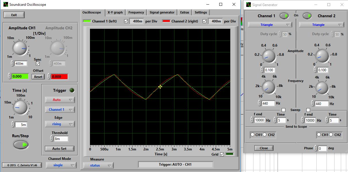 Tim Pierce - 440 Hz triangle, 100mV